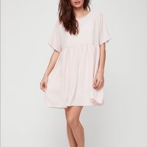 Wilfred Kenzie Baby Pink Crepe Relaxed Babydoll Dress Size M